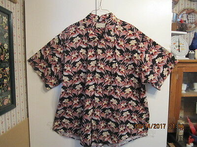Men's Hawaiian Style Shirt 2 Xl / Xxg  - Crossings  100% Cotton