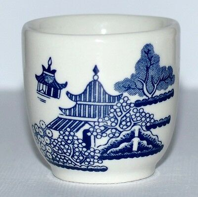 *  Churchill England Willow Blue Egg Cup