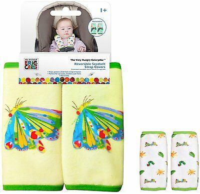 Eric Carle The VERY HUNGRY CATERPILLAR Yellow Car Seat Strap Covers 151052