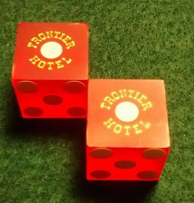 Pair Of Las Vegas Frontier Hotel Casino Dice