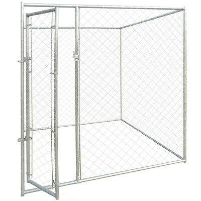 S# Outdoor Steel Dog Cage Kennel House Pet Enclosure Playpen Run Fence 2x2x1.95m