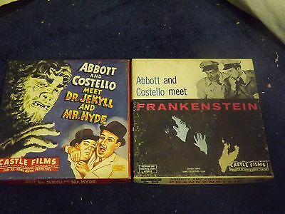 Lot of 2 Castle 8 MM films Boxed Abbott & Costello Frankenstein /Dr Jekyll