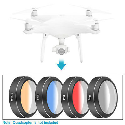 Neewer Camera Lens Graduated Color Filter Kit for DJI Phantom 4 Pro Drone