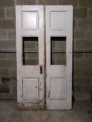 ~ ANTIQUE DOUBLE ENTRANCE FRENCH DOORS  ~ 44 x 82 ~  ARCHITECTURAL SALVAGE
