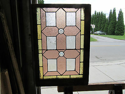 ~ Antique  American Stained Glass Window ~ 22 X 32 ~ Architectural Salvage ~