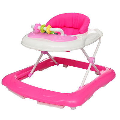 New Baby Walker Car Activity Centre First Step Play Infant Rocker Music Toy Pink