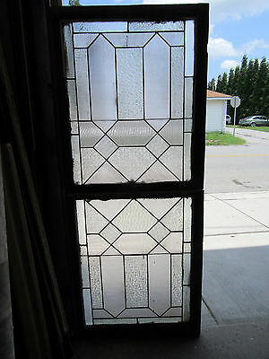 ~ Antique Stained Glass Window Set ~ Double Hung ~ Architectural Salvage
