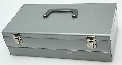 Logan Dble Decker  Metal File Storage Box,1500G, 1500 2x2 Slides, dent #361384