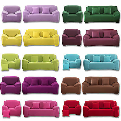 1/2/3/4 Sofa Couch Slipcover Modern Stretch Covers Elastic Settee Protector Fit