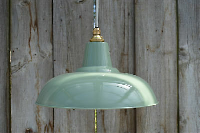 Retro style green grey light pendant hanging lightshade lamp shade ceiling FG1G3