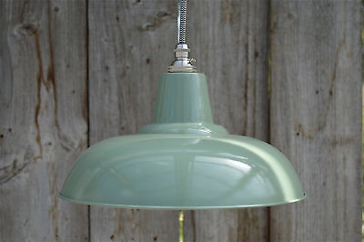 Retro green grey light pendant hanging lightshade lamp shade ceiling FG1SR4