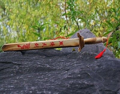 10X Kung Fu Wooden Swords with Case Toy for Kids toy-w66
