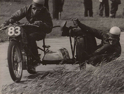 MOTORCYCLE & SIDE CAR No.83 RACING PHOTOGRAPH, BY GUY GRIFFITHS.