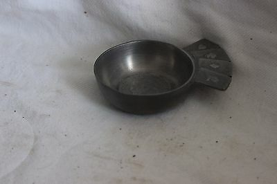 French  Pewter Wine Tasting Cup Napoleon 3 Finstain Les Potstainiers