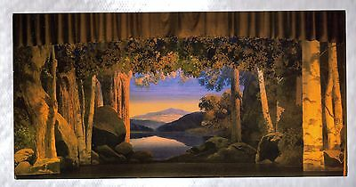 """Stage Set For """"The Woodland Princess"""" Maxfield Parrish Design 4"""" x 8"""" Postcard"""