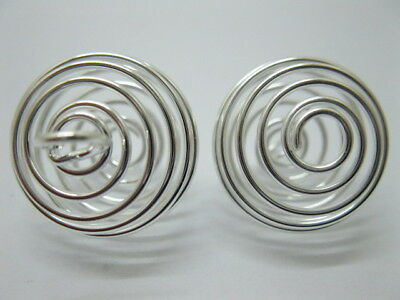 100X Spiral Bead Cages Pendants Findings 50mm Size