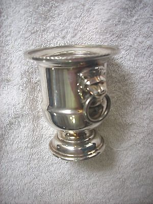 Small Viners Of Sheffield Lions Head Silver Plate Urn