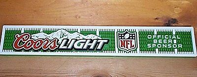 Coors Light Nfl Football Beer Bar Mat Runner Coaster New
