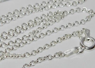 "SOLID STERLING SILVER 925 16 "" BELCHER CHAIN / CHOKER - 2.6g - Strong & Durable"