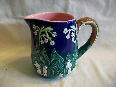 Blue & Pink Jay Willfred Pitcher by Andrea by Sadek
