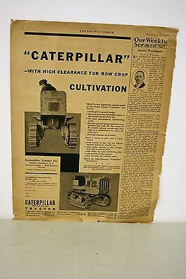 February 28, 1931 Caterpillar Tractor Newspaper Ad
