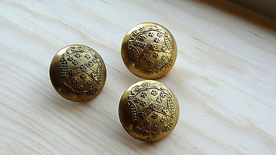 Three Very Well Made Livery Uniform Buttons