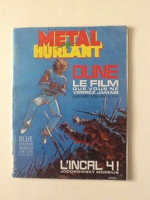 1985 French METAL HURLANT with Jodorowsky/ Moebius Incal 4 + DUNE pullout