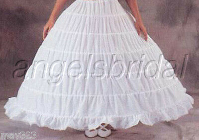 Mega Full 6 Hoop Bridal Wedding Gown Medieval Costume Prom Petticoat Skirt Slip