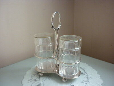 Briggs Sheffield Silver Plated Stand With Pickle Jars
