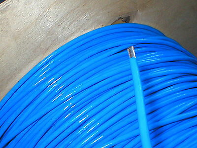 Blue 37/0.4 10AWG PTFE teflon silver plated copper wire speaker wiring