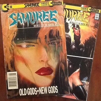 Samuree 6 & 7 comic books lot of 2 1989 Continuity indie Neal Adams  Old Gods