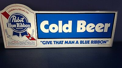 (Vtg) 1981 Pabst Cold Beer Light Up Sign Milwaukee Bar Game Room Man Cave