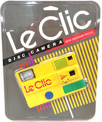 Le Clic Vintage Disc Camera With Designer Pouch New & Sealed Yellow Retro 1980