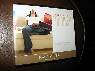 Joyce Meyer ● Are You TOO BUSY? ● Make the Most of Your Life ● 4 audio CDs