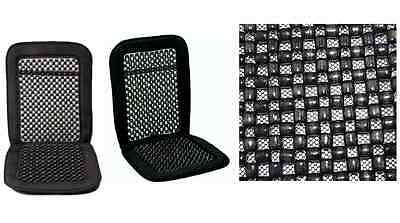 Van, Car & Lorry Comfy Massage Back  Wooden Bead Beaded Seat Cover Cushion