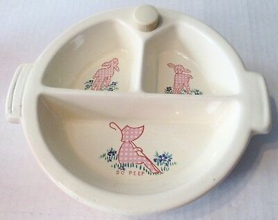 Excello Vintage Divided Child's Baby Dish Little Bo Peep