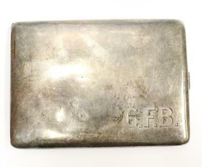 Birks Sterling Cigarette Case initials GFB 4.5 x 3.37 x .62 inches 167.2 grams