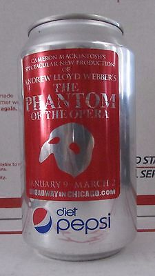 Limited Diet Pepsi Phantom of the Opera empty 12oz aluminum soda pop can