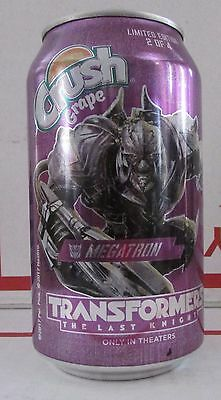 Limited Grape Crush Transformers Megatron empty 12oz aluminum soda pop can