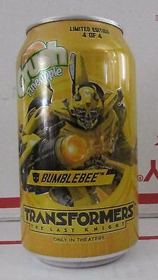 Limited Pineapple Crush Transformers Bumblebee empty 12oz aluminum soda pop can