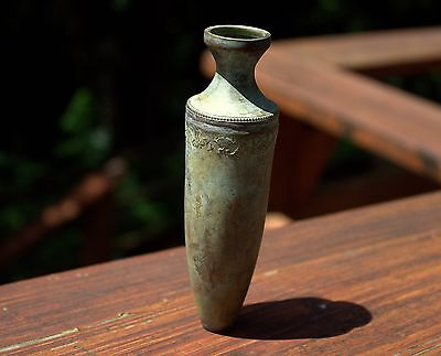 Very Old Roman Bronze Jug Bottle For Spices Or Oil With Nice Ornamentation
