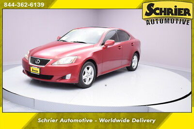 2006 Lexus IS Base Sedan 4-Door 06 Lexus IS250 Red AWD Tinted Windows Dual Climate Auxiliary Audio 12 Volt