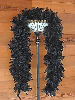 Large Ruff Feather Boa - BLACK - Outstanding Show Biz Quality