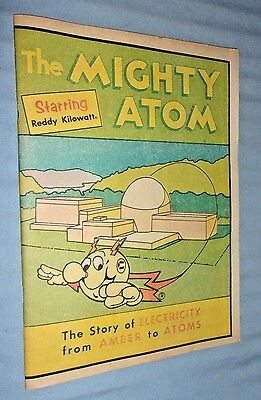 Vintage The Mighty Atom Reddy Kilowatt Comic Book 1976
