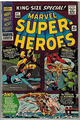 Marvel Super Heroes #1 1966 Silver Age Giant 68 Pages First Issue Nice!