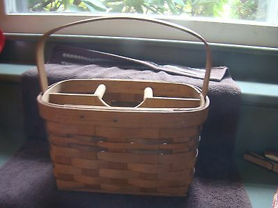 Authentic Basketville UTENSIL Holder Basket Putney, Vermont HolidayTable