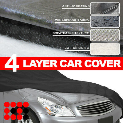 Fit CHEVROLET Outdoor Water Resistant Soft Cotton Car 4-Layer Cover(483x178x120)