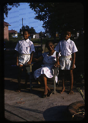 Lot of 5 Vintage 1950s 35mm Slides Photos - AFRICAN AMERICAN & WHITE FAMILY