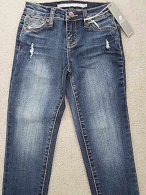 NWT ~ Girls Size 10 Tractr Skinny Crop Destructed Finish Jeans ~ CUTE