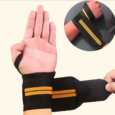 Men Hot Weight Lifting Figure 8 Training Gym Straps Padded Grip Hand Bar Support